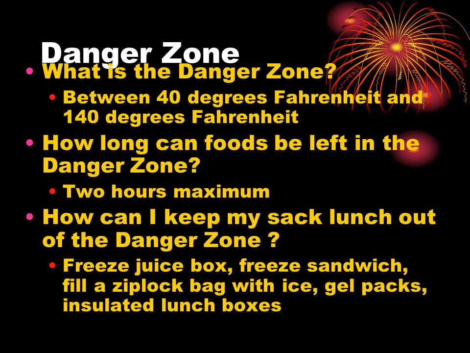 Danger Zone What is the Danger Zone