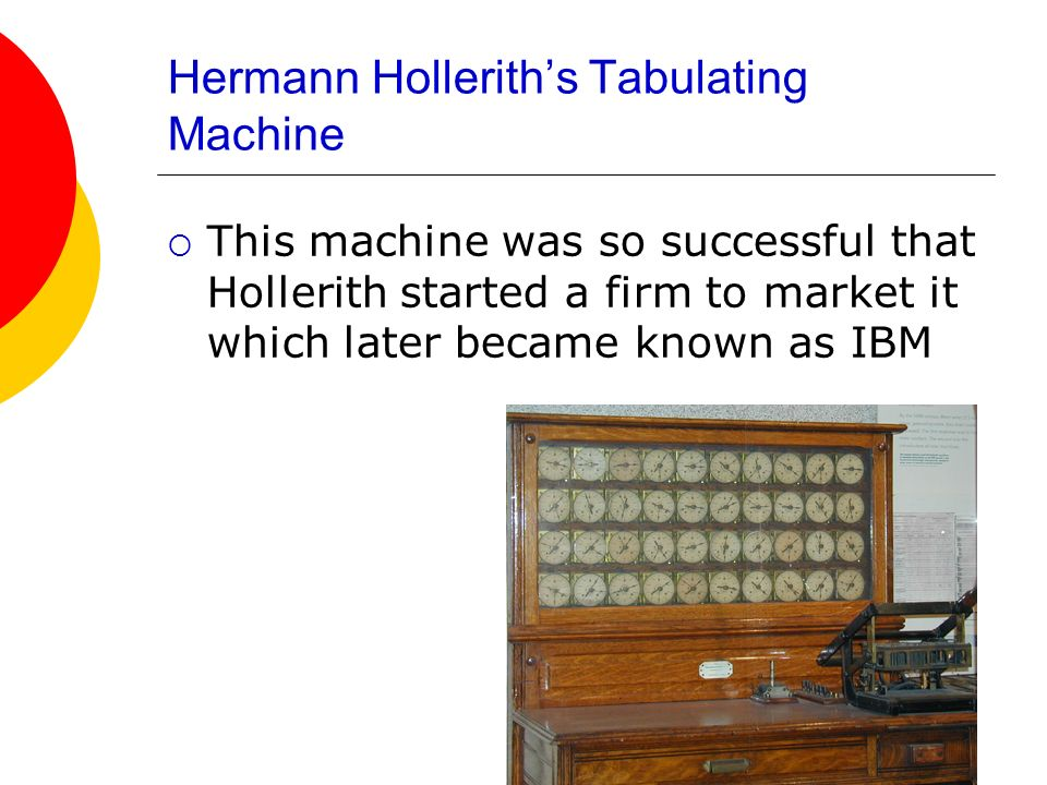 Hermann Hollerith's Tabulating Machine