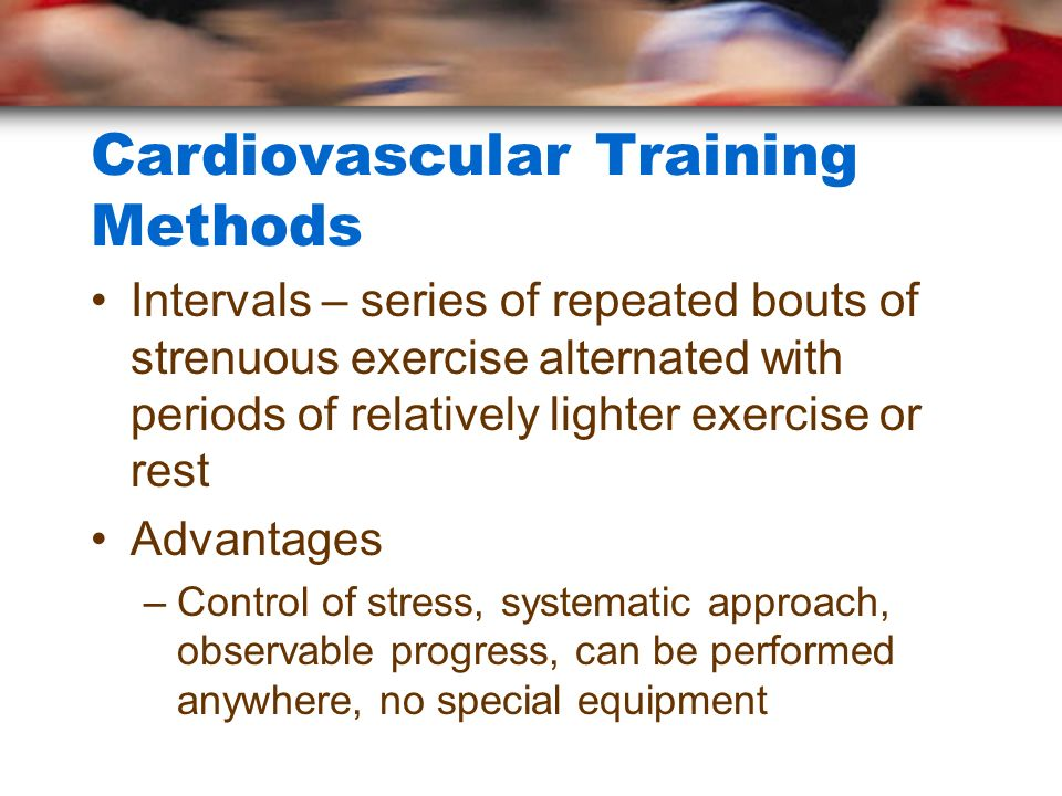 Cardiovascular Training Methods