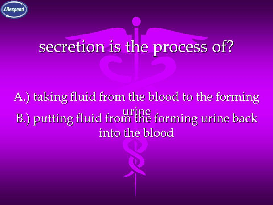 secretion is the process of