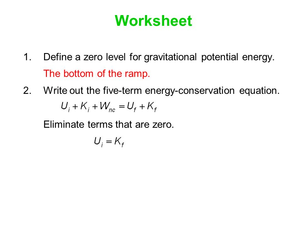 Work done by individual forces ppt video online download – Gravitational Potential Energy Worksheet