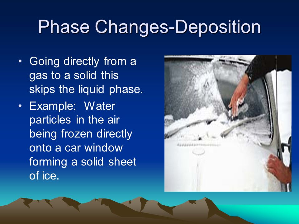 Phase Changes-Deposition