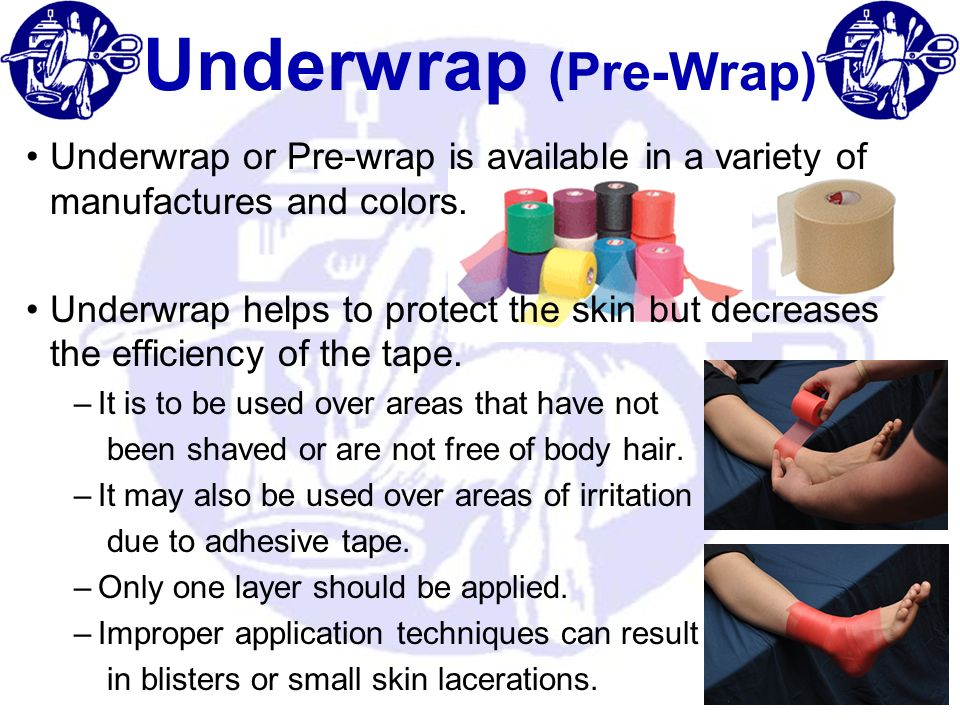Underwrap (Pre-Wrap) Underwrap or Pre-wrap is available in a variety of manufactures and colors.