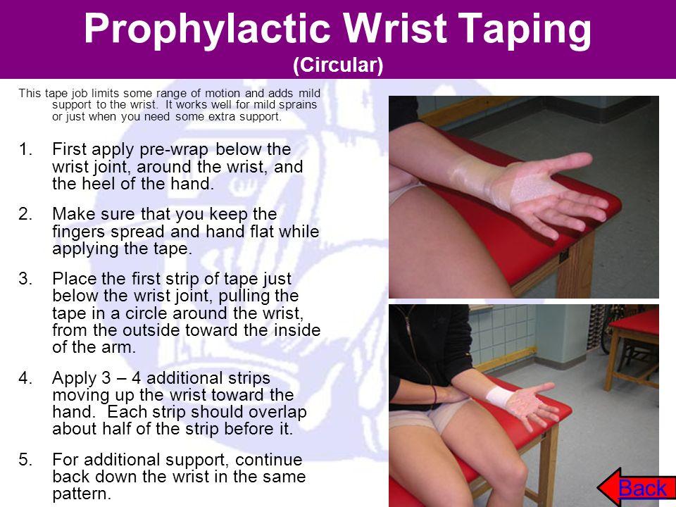 Prophylactic Wrist Taping (Circular)