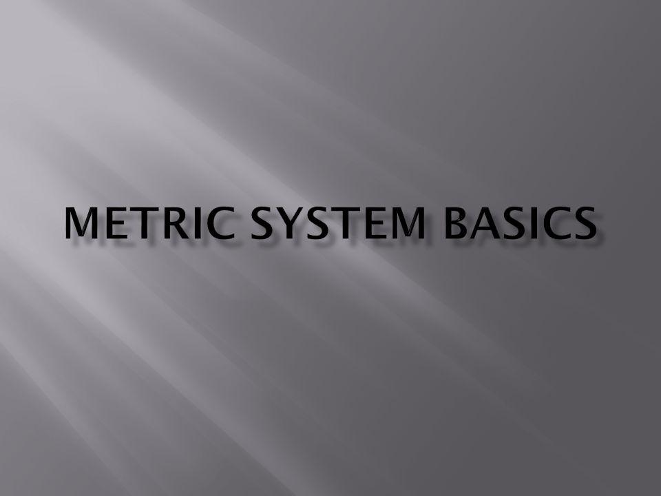 Metric System Basics