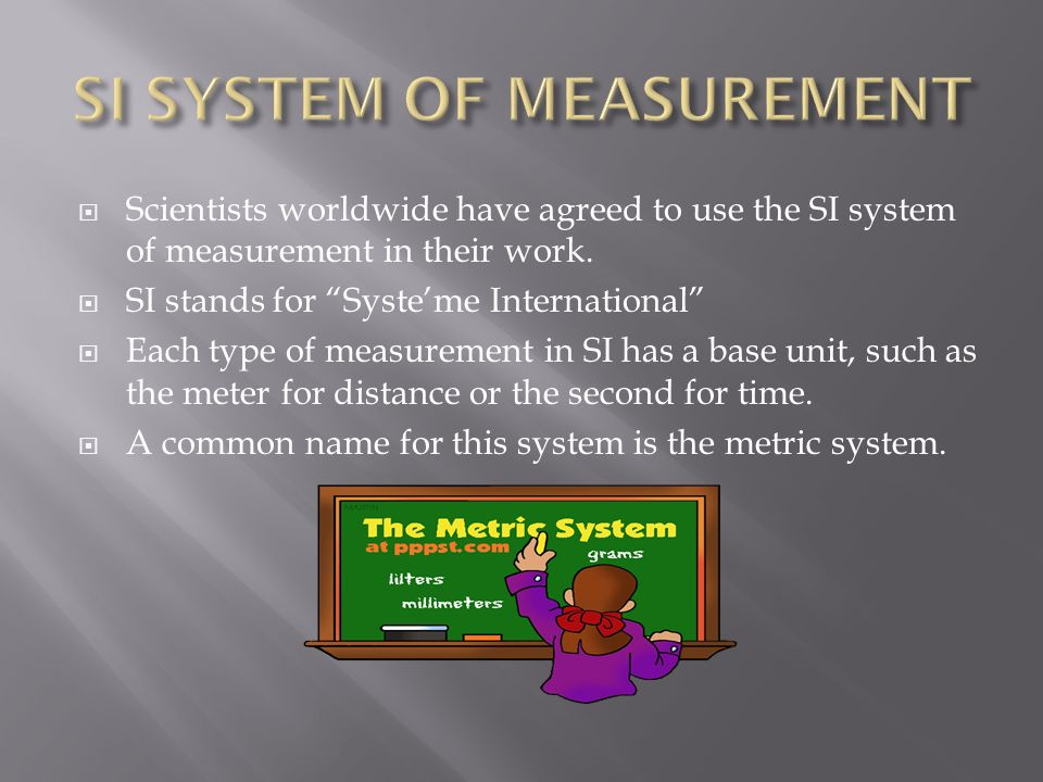 SI SYSTEM OF MEASUREMENT