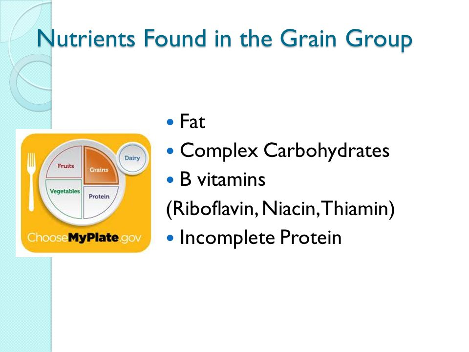 Nutrients Found in the Grain Group