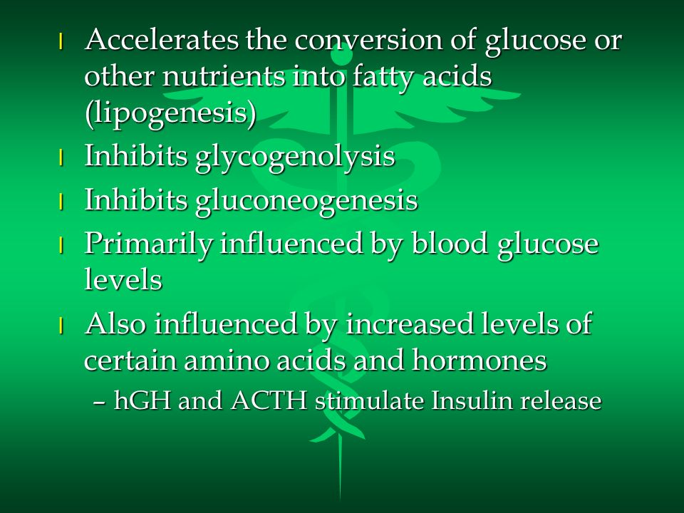 Inhibits glycogenolysis Inhibits gluconeogenesis