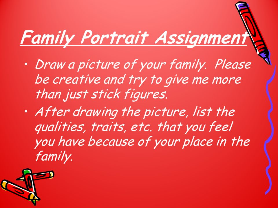 Family Portrait Assignment