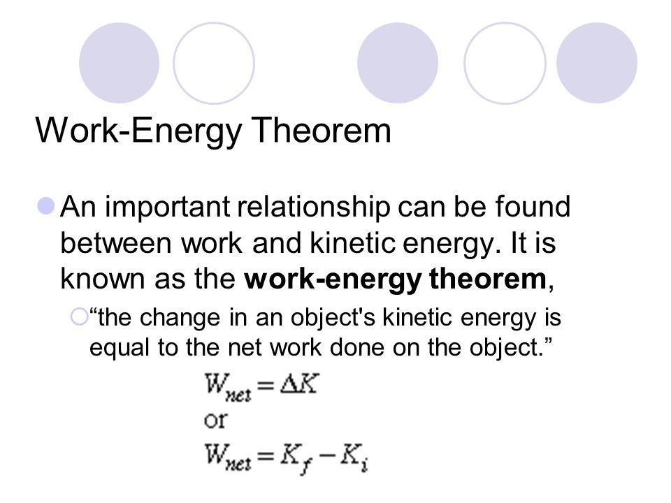 energy and work relationship definition
