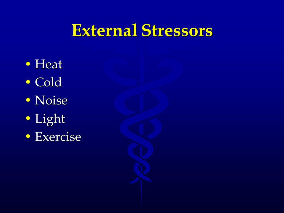 External Stressors Heat Cold Noise Light Exercise