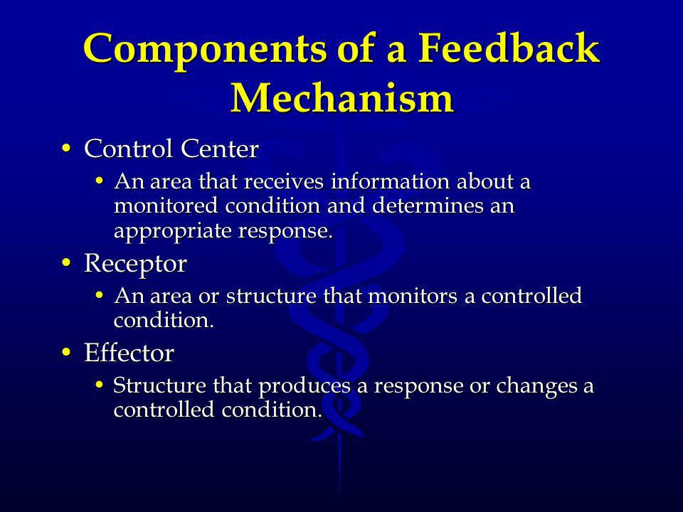 Components of a Feedback Mechanism