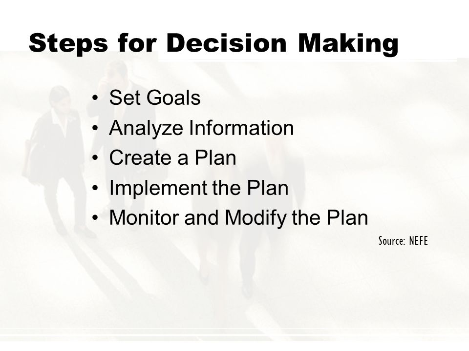 Steps for Decision Making