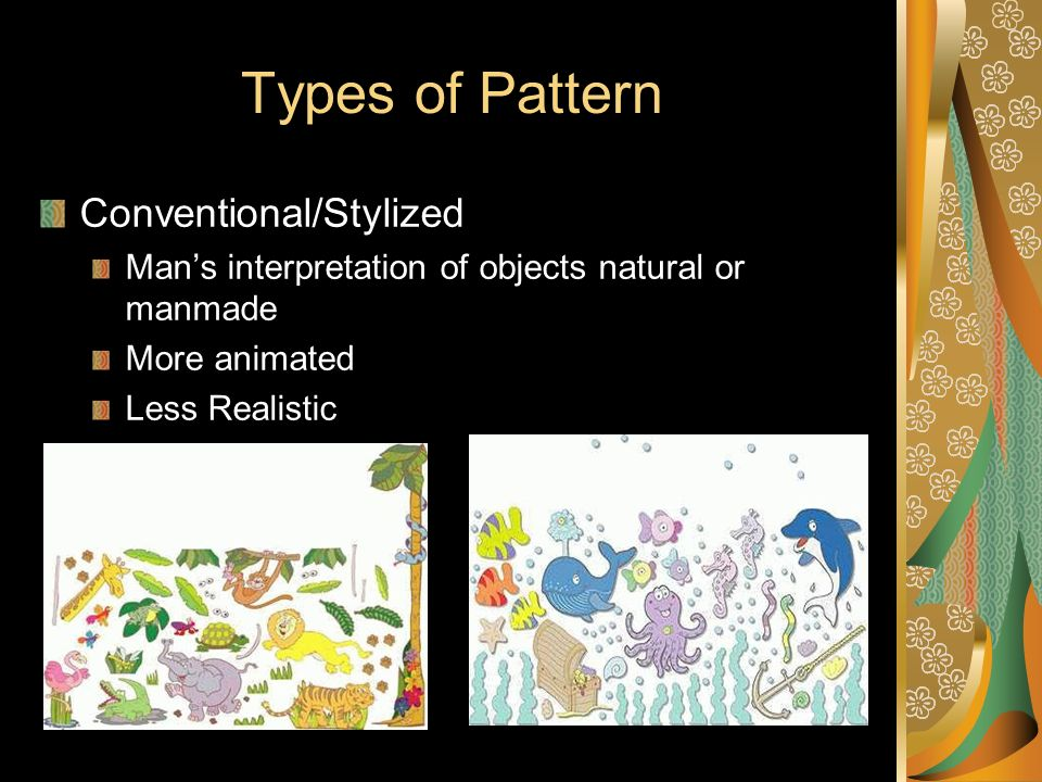 Types of Pattern Conventional/Stylized