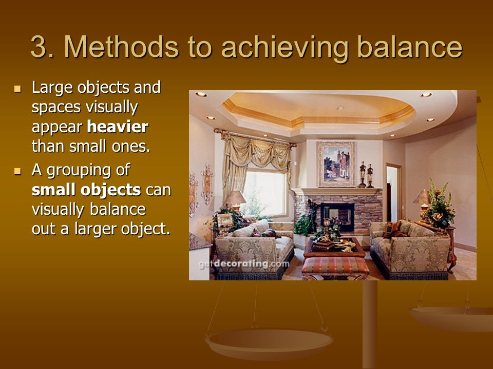 3. Methods to achieving balance