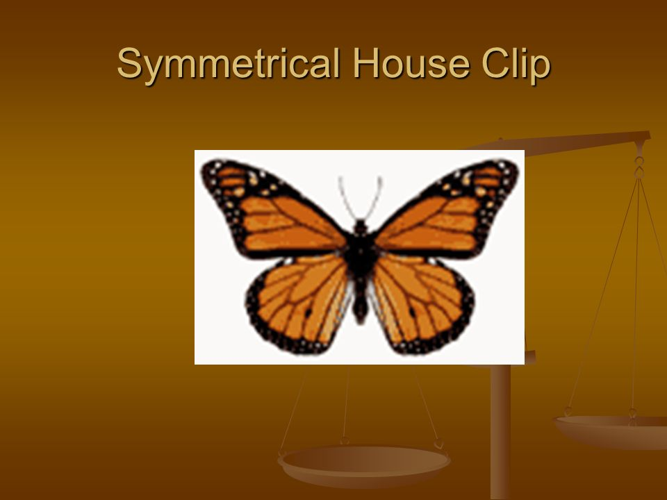 Symmetrical House Clip
