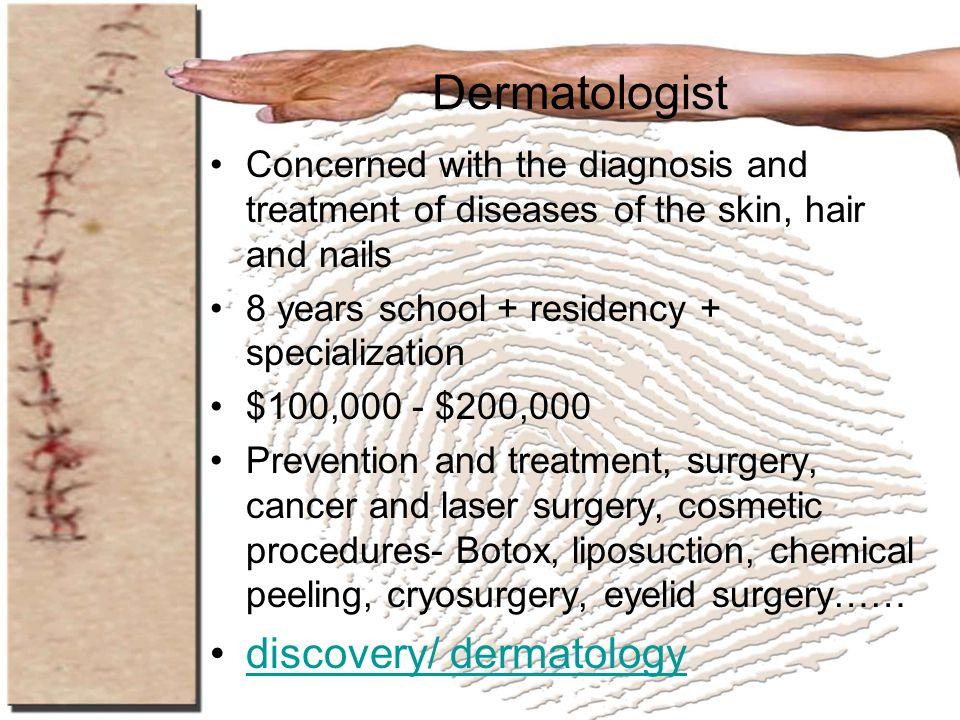 Dermatologist discovery/ dermatology