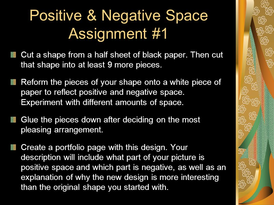 Positive & Negative Space Assignment #1