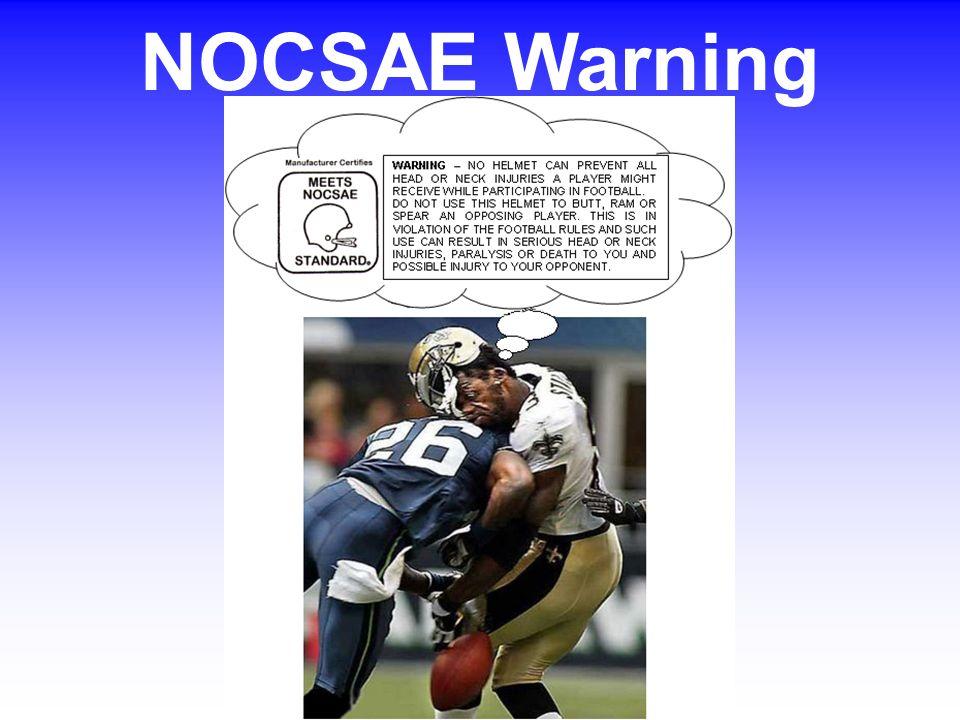 NOCSAE Warning