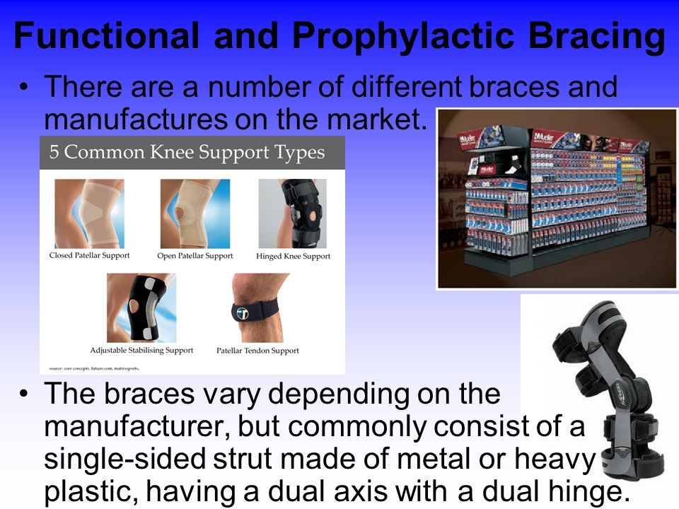 Functional and Prophylactic Bracing
