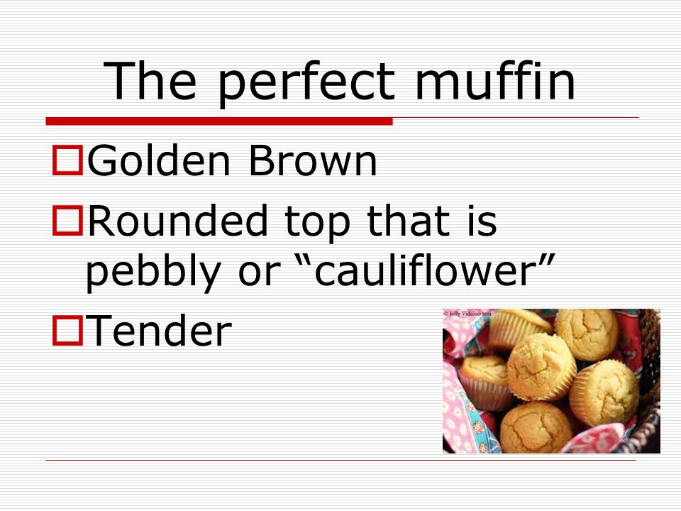 The perfect muffin Golden Brown
