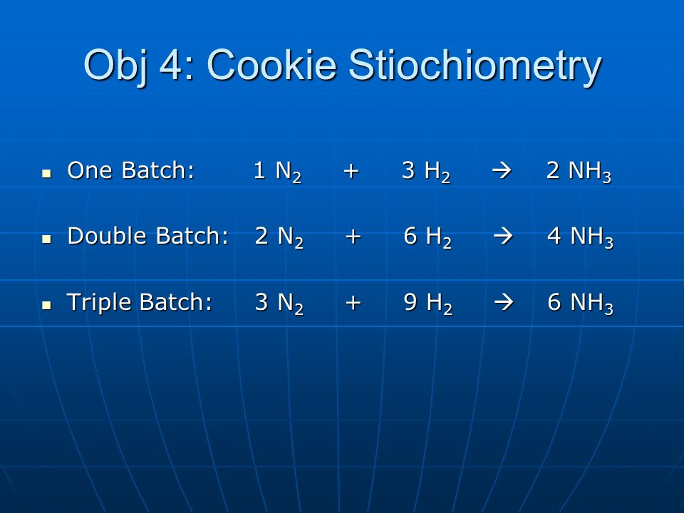 Obj 4: Cookie Stiochiometry