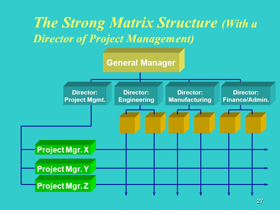 matrix structure in an event management The matrix organization structure is a or talent of an employee is shared between the functional department and project management team in a matrix structure.