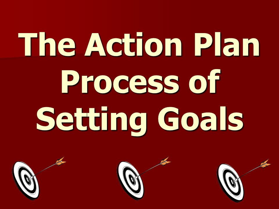 The Action Plan Process of Setting Goals