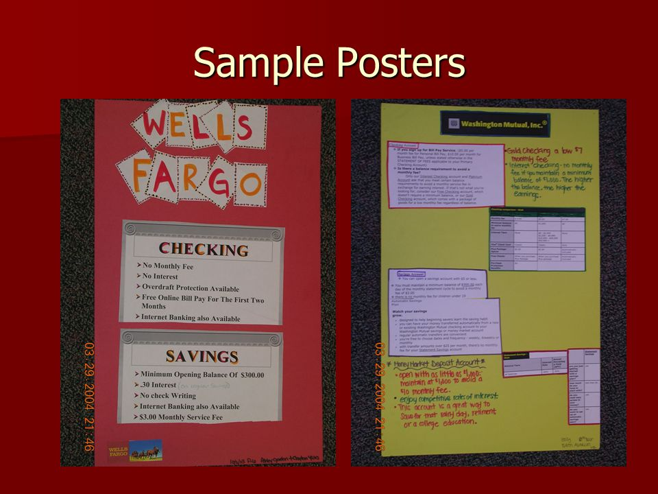 Sample Posters