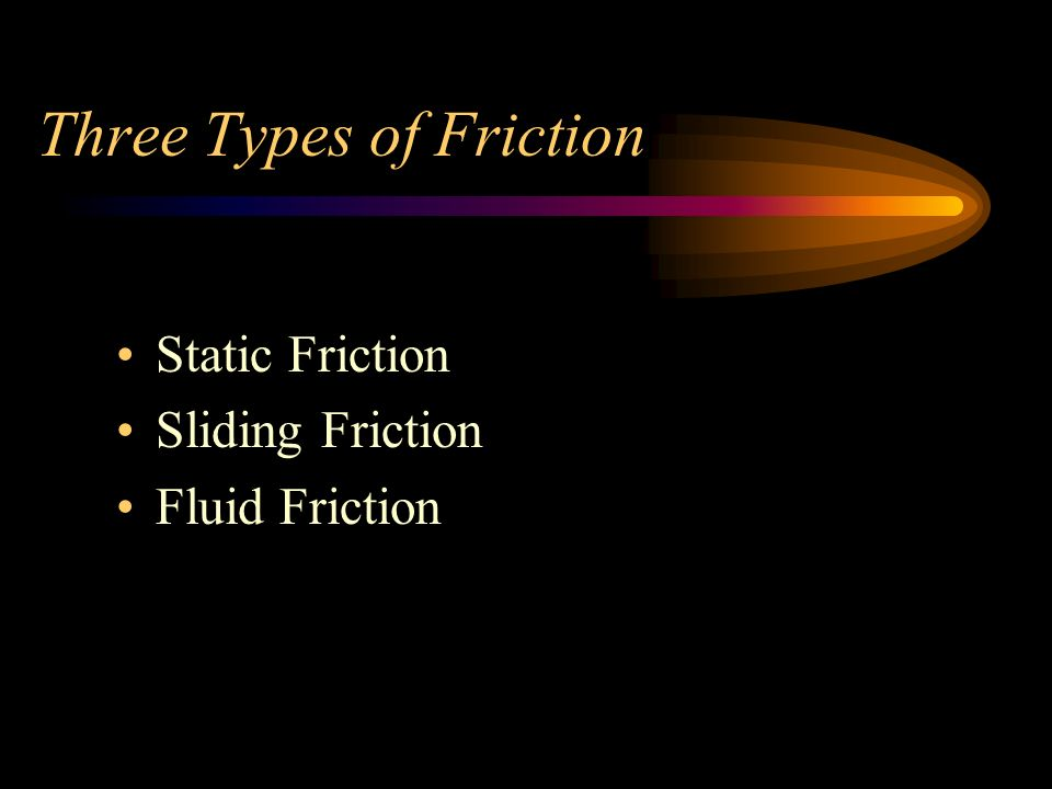 Three Types of Friction