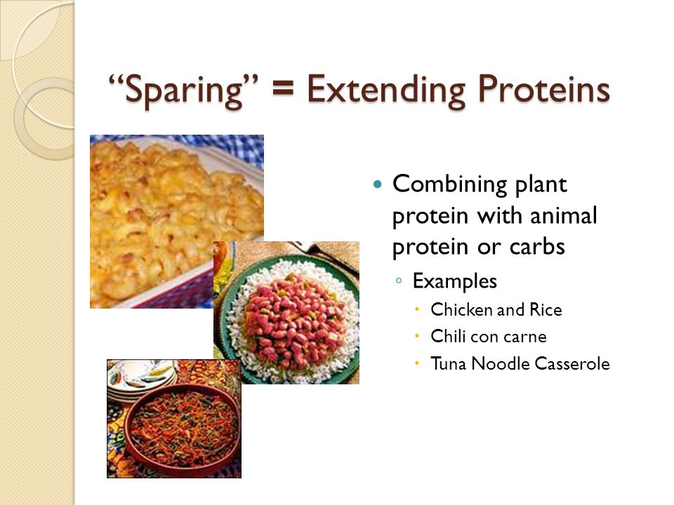 Sparing = Extending Proteins