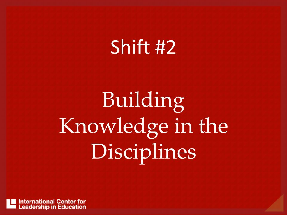 Building Knowledge in the Disciplines