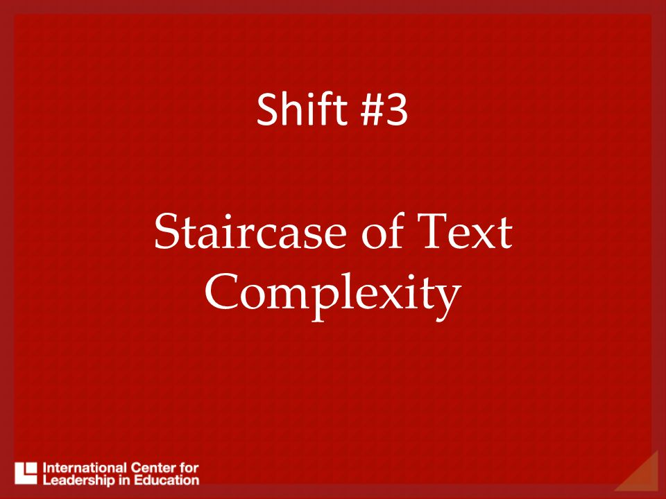 Staircase of Text Complexity