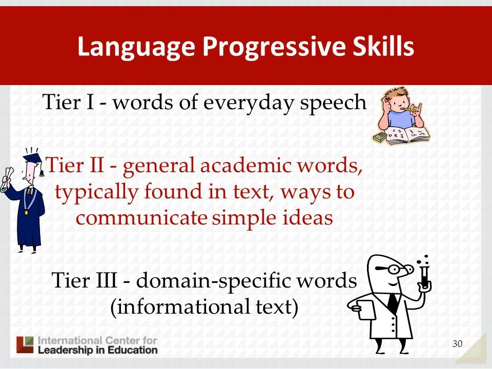 Language Progressive Skills