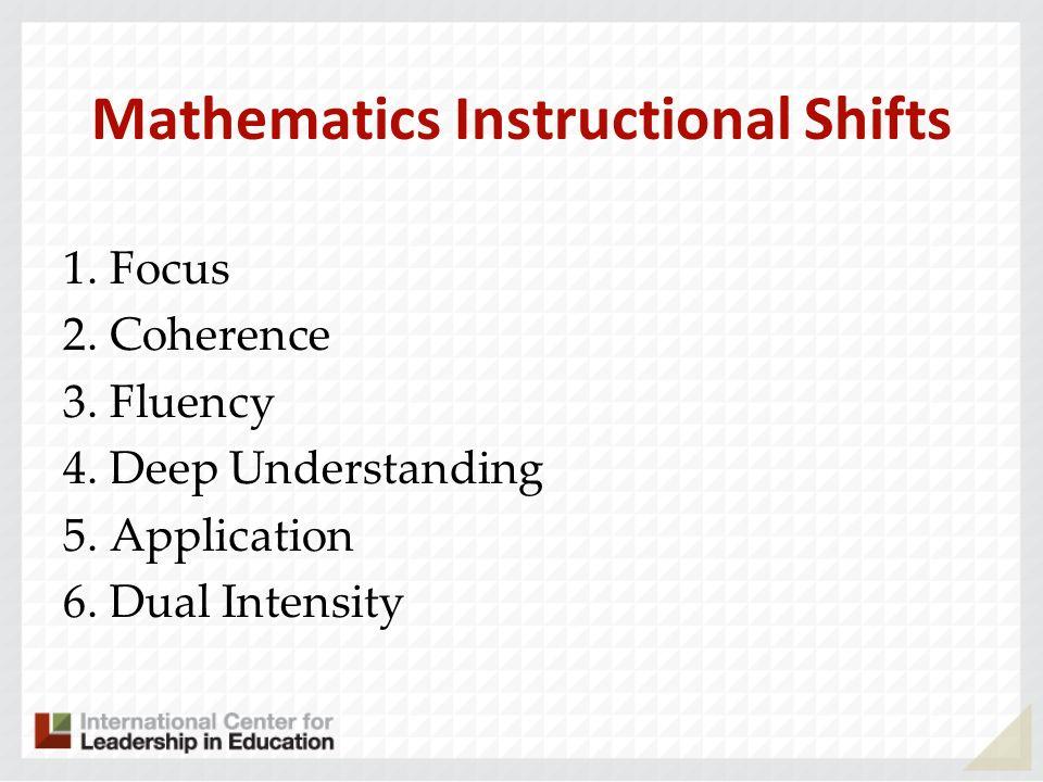 Mathematics Instructional Shifts