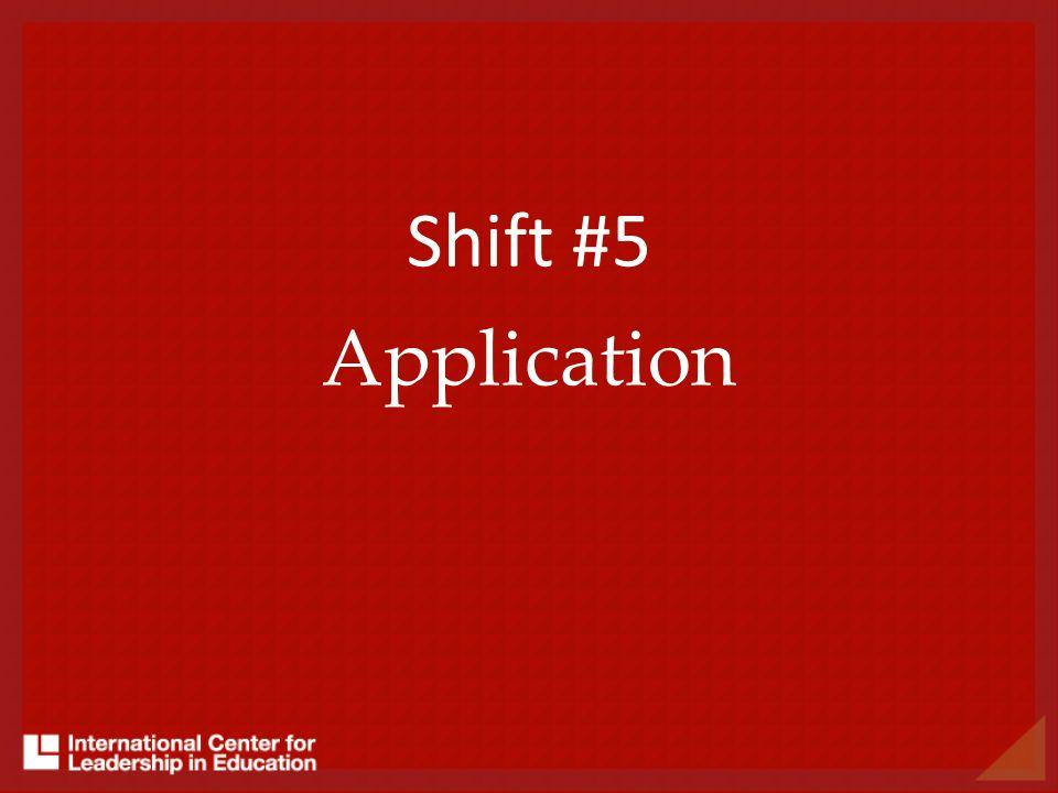 Shift #5 Application
