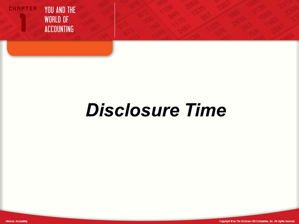 Disclosure Time Glencoe Accounting