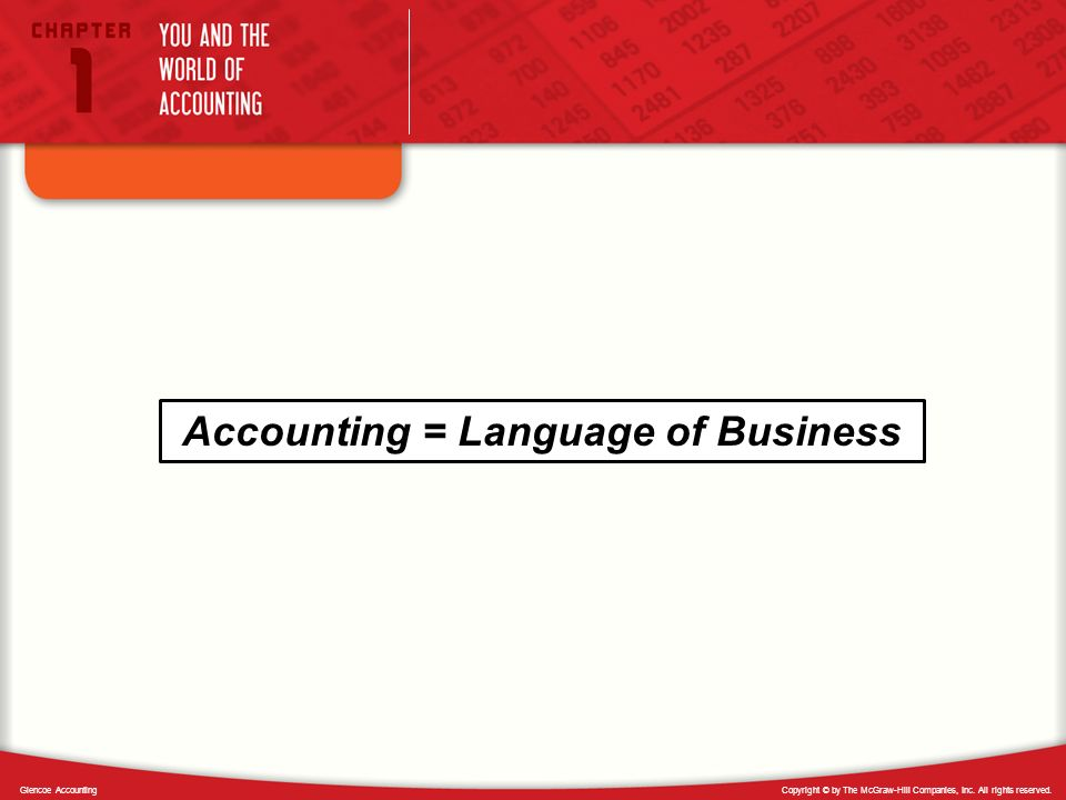 Accounting = Language of Business