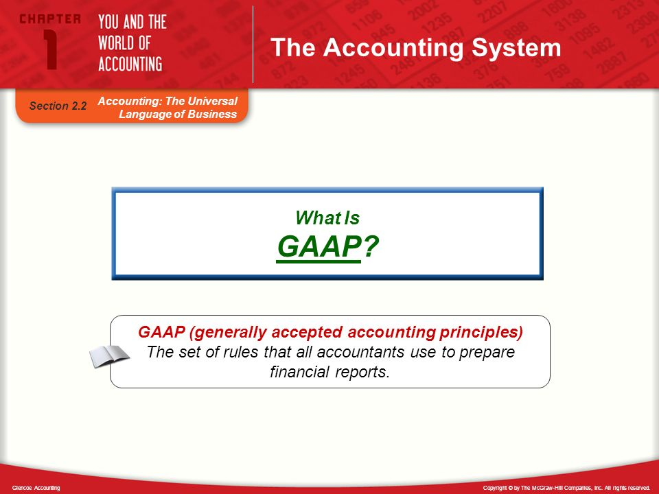 GAAP (generally accepted accounting principles)