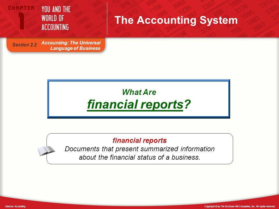 financial reports The Accounting System What Are financial reports
