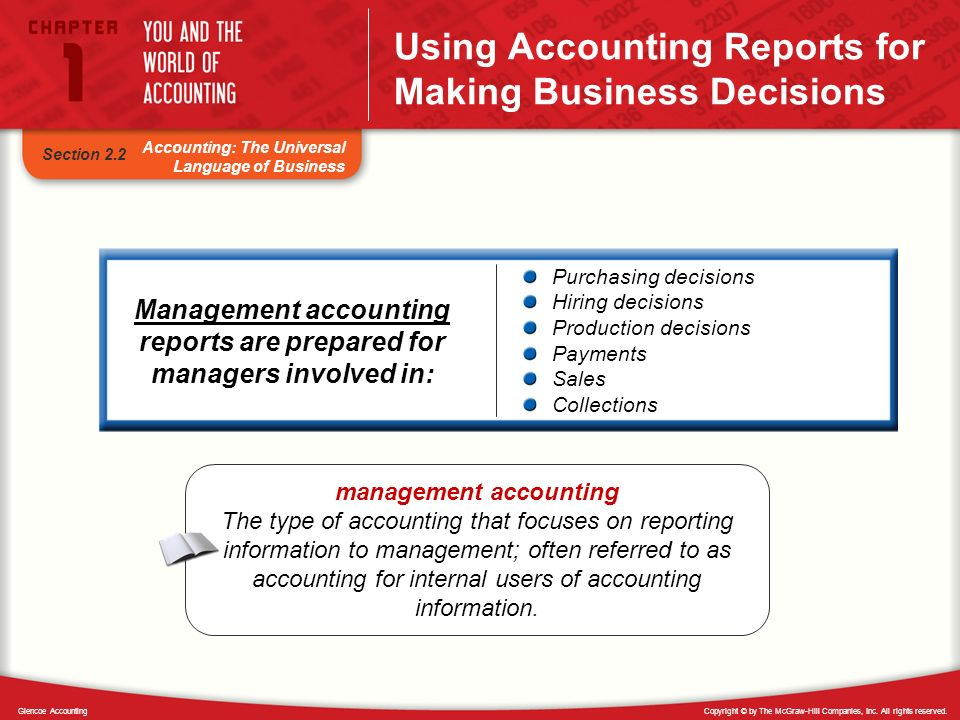 Using Accounting Reports for Making Business Decisions