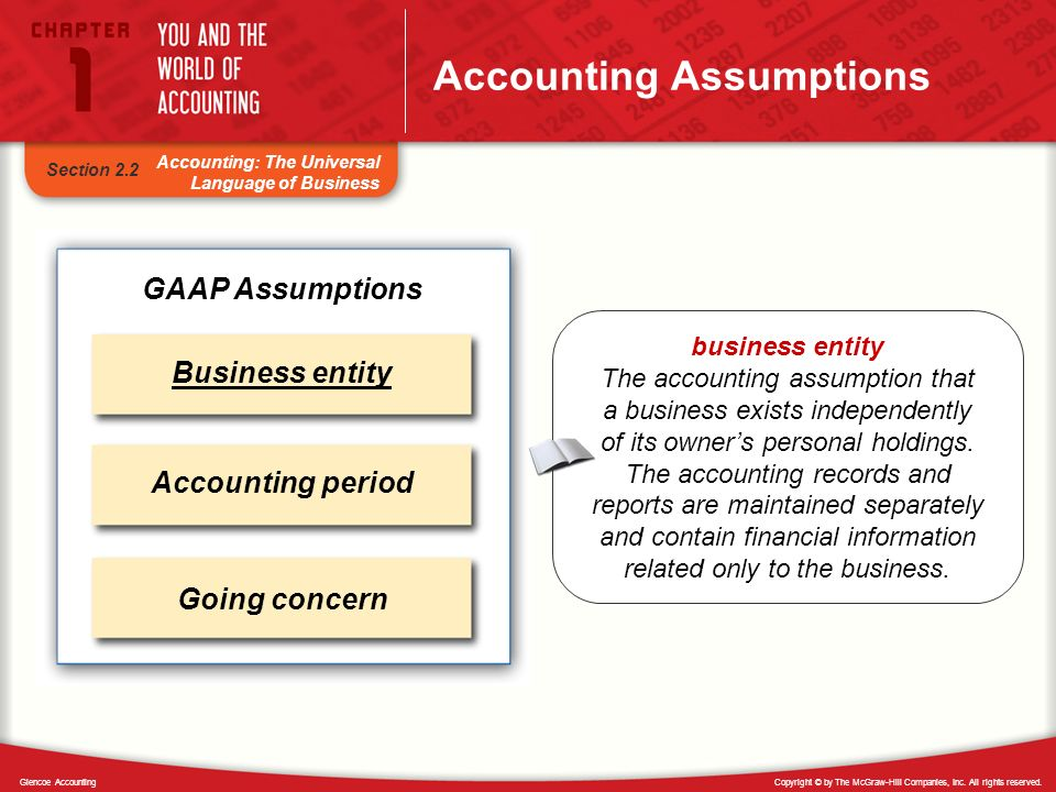 Accounting Assumptions