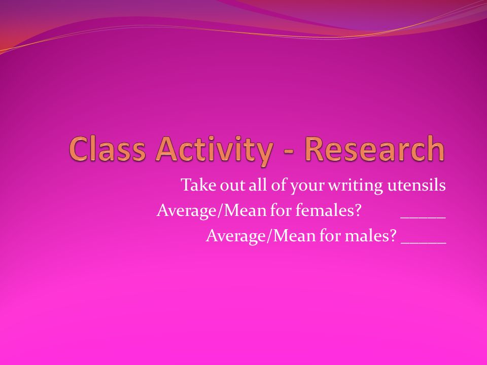 Class Activity - Research