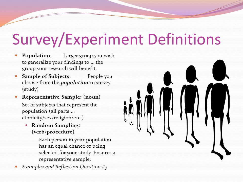 Survey/Experiment Definitions