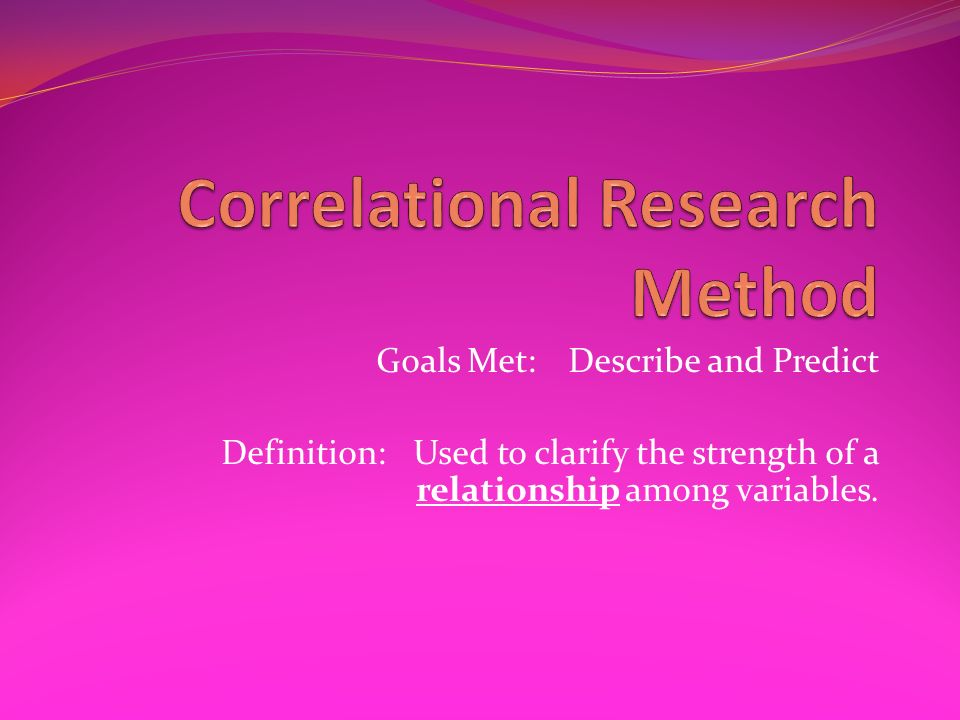 Correlational Research Method