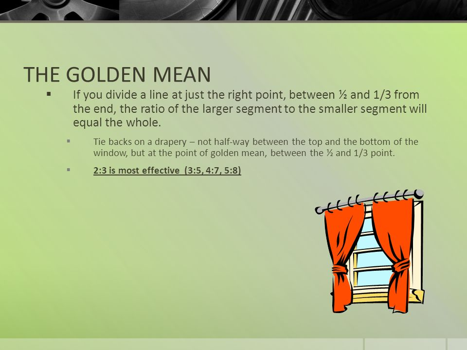 THE GOLDEN MEAN