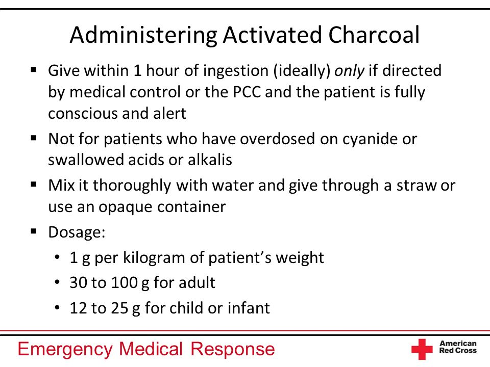 Administering Activated Charcoal