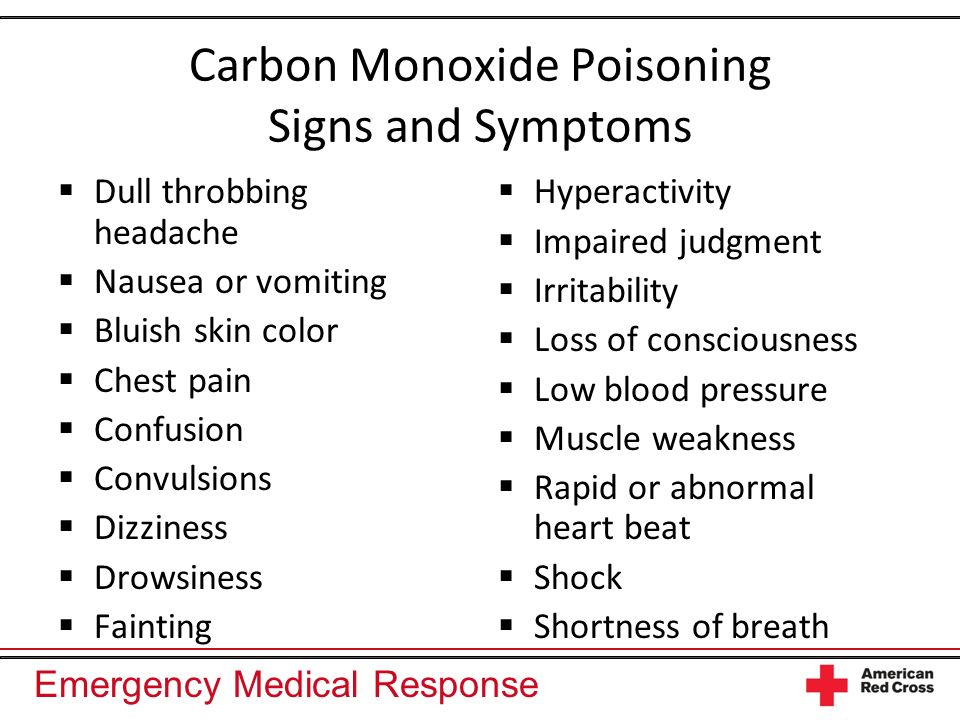Carbon Monoxide Poisoning Signs and Symptoms