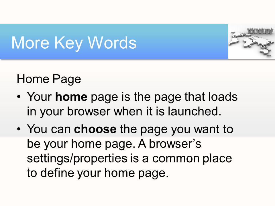 More Key Words Home Page