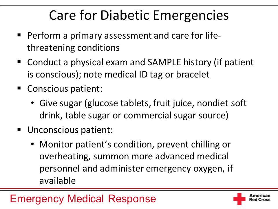 Care for Diabetic Emergencies